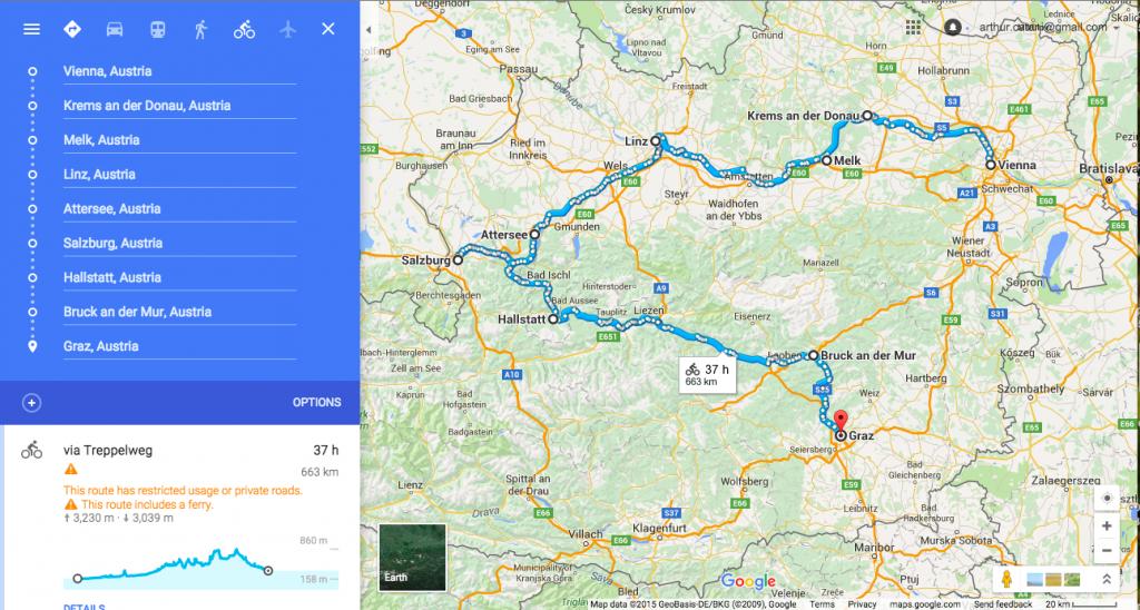 Détails de notre voyage à vélo en Autriche depuis Vienne