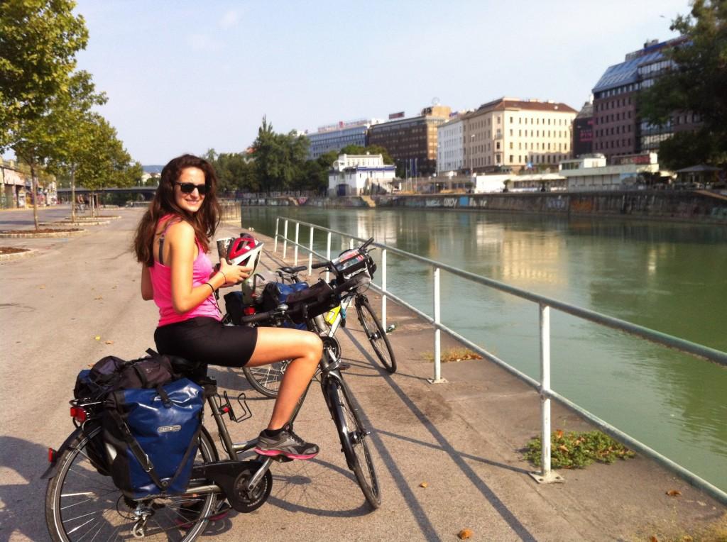 Bord du Danube, Vienne à vélo