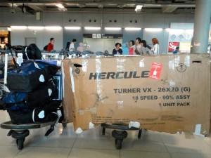 Carton pour vélo dans l'avion