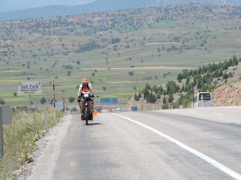 Sur les routes turques pendant le sun trip