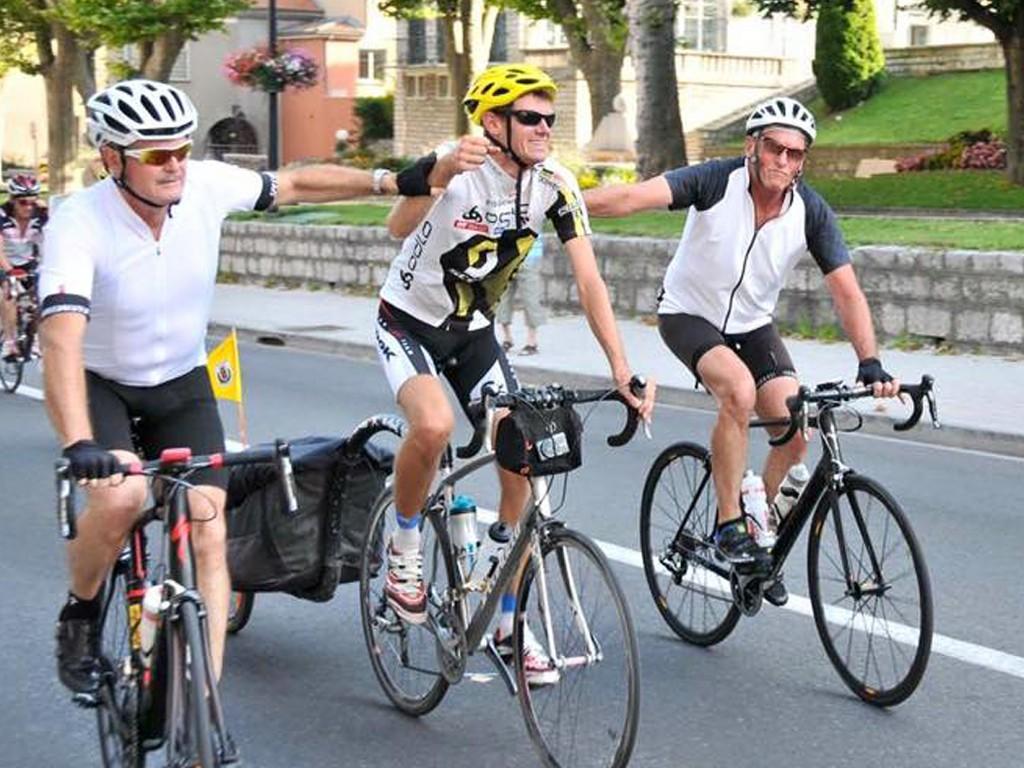Tour de france à vélo d'Aurélien Chaméon - arrivée