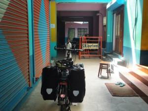 Hôtel voyage à vélo en Inde
