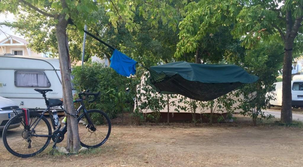 Camping sauvage Corse vélo