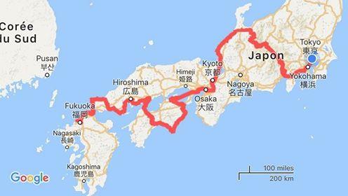Itinéraire voyage vélo Japon
