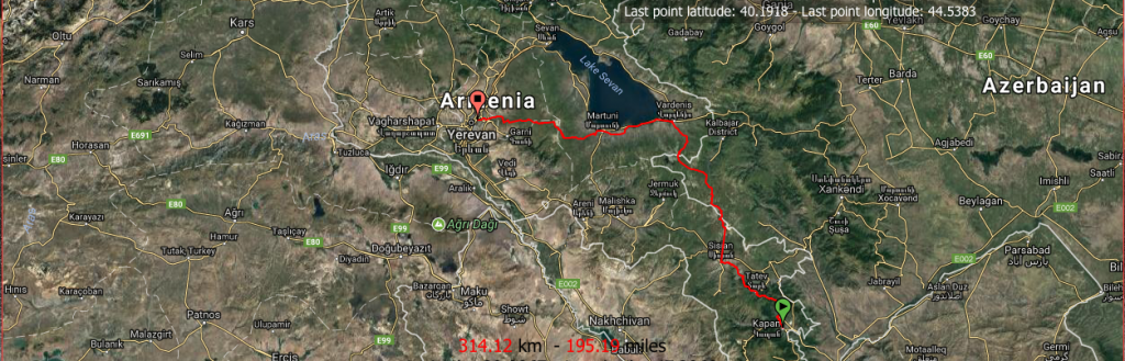 Itinéraire vélo Arménie