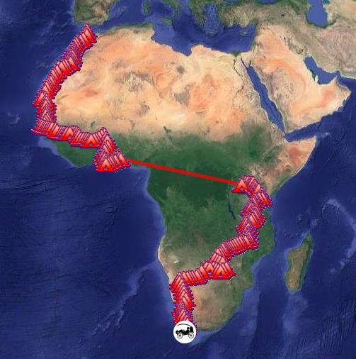 Traversée afrique à vélo trike