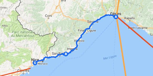 Itinéraire le long de la côte d'azur charlotte rotureau