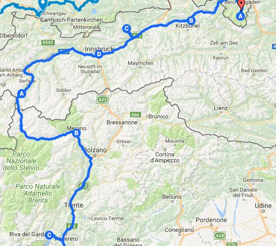 Itinéraire à vélo en Italie sur la Via Claudia