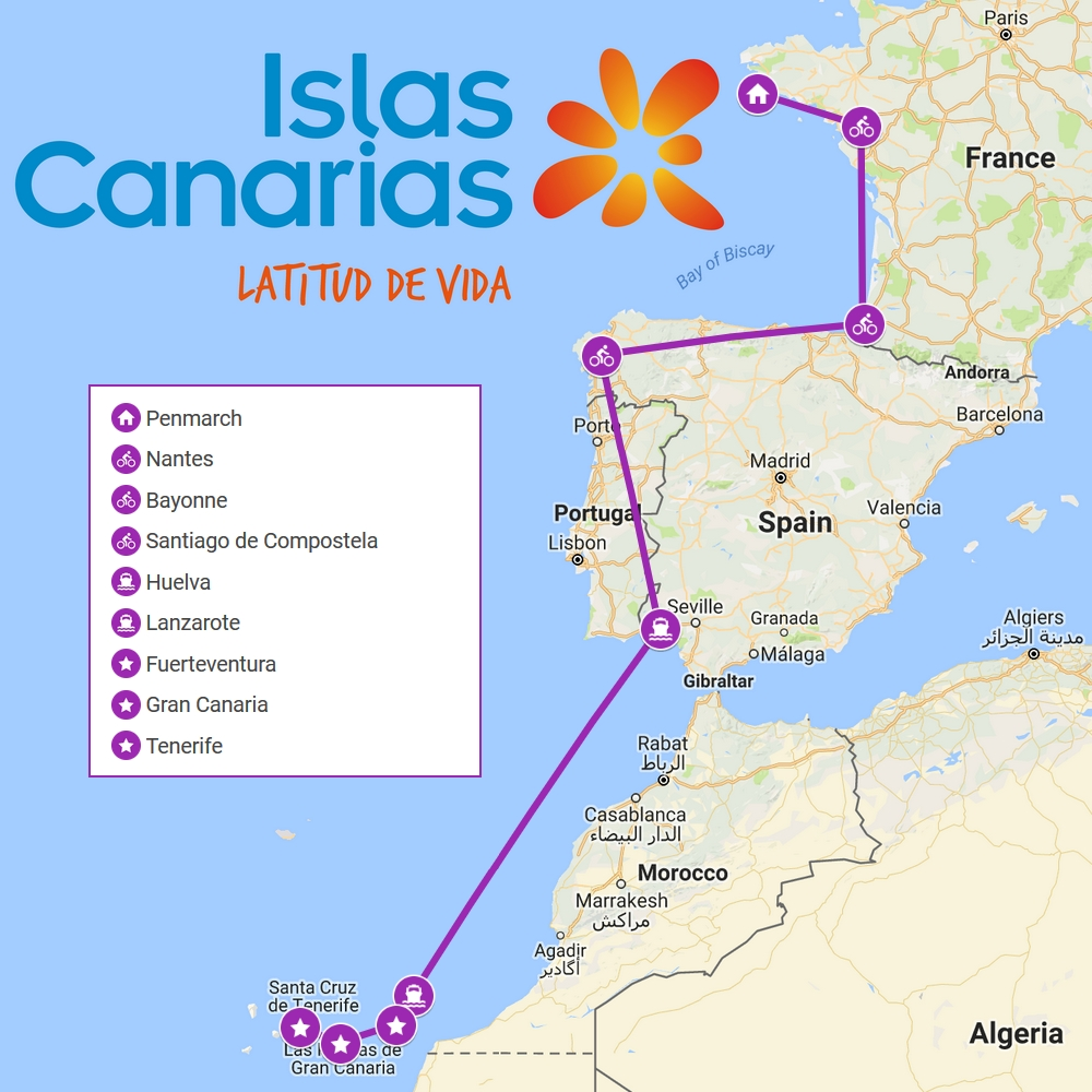 carte europe iles canaries