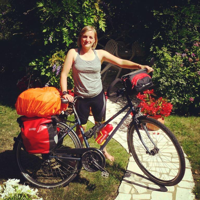 Départ Charlotte Eurovelo 6 vélo