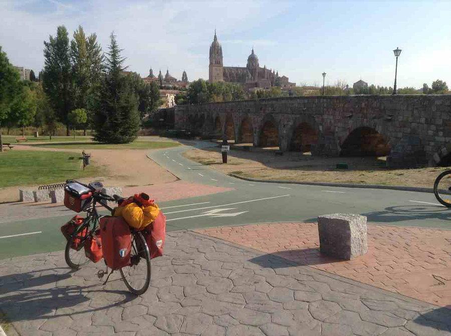 Salamanque ville espagne vélo