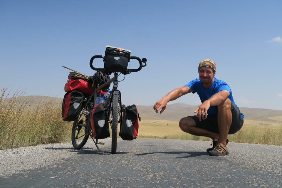 Gauthier Devie traversée vélo