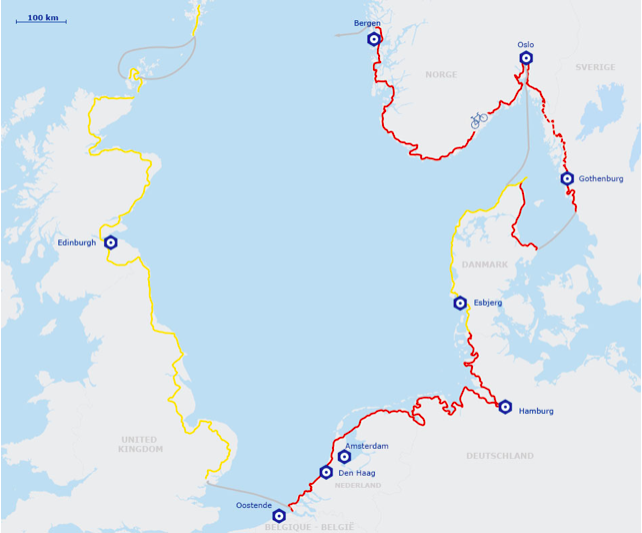 Réseau Eurovélo Danemark pour voyager à vélo