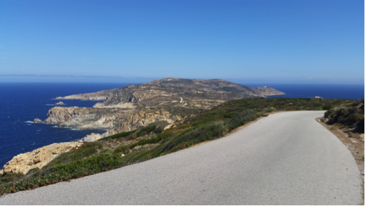 Corse à vélo : la baie de Calvi, depuis Notre Dame de la Serra