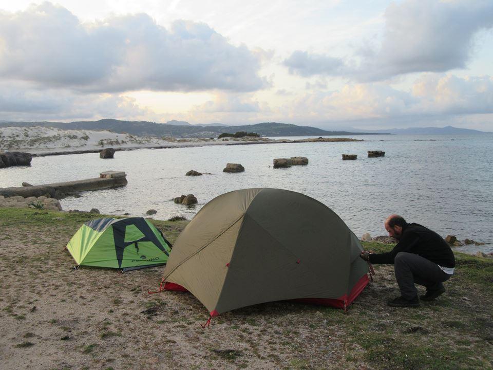 camping sauvage Capo Comino Sardaigne