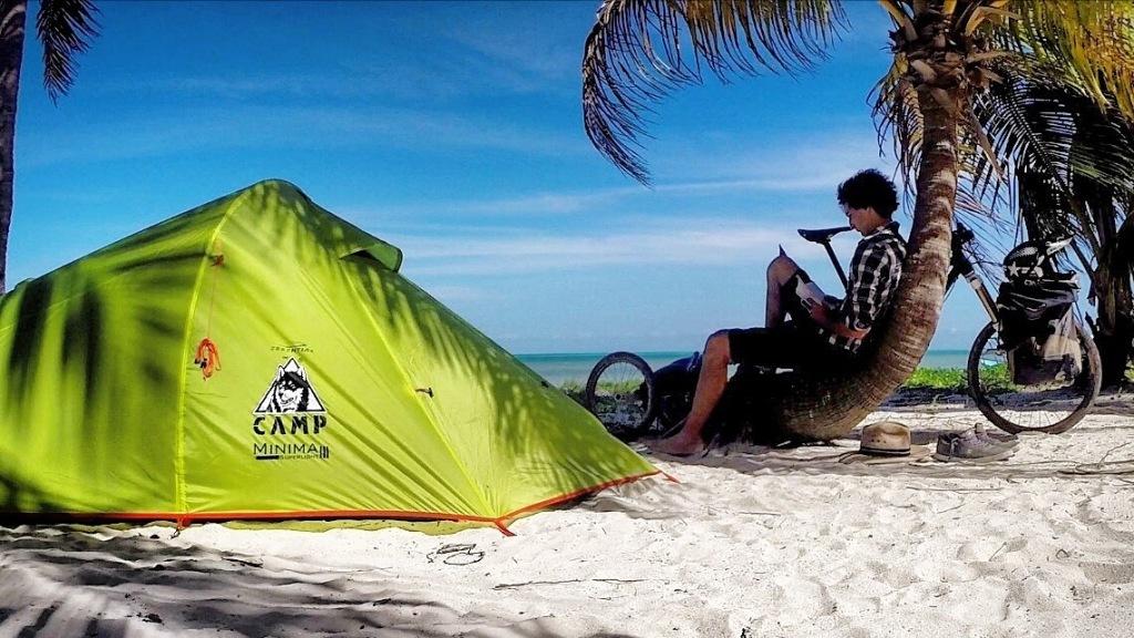 Camping voyage à vélo Mexique