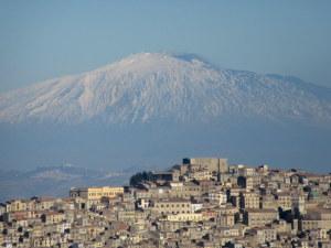 ville de Gangi et Etna sicile vélo