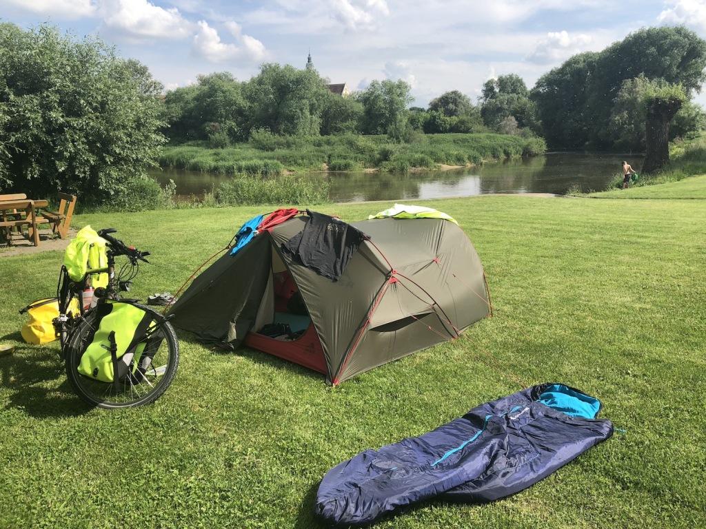 Camping sur l'eurovelo 6