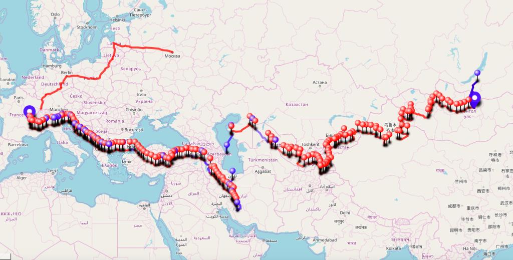 Itinéraire voyage vélo