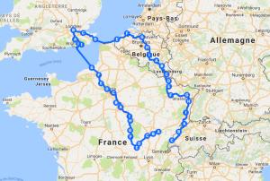 Itinéraire vélo Suisse Londres