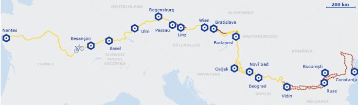 Itinéraire Eurovelo 6