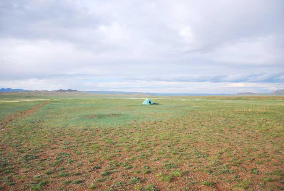 Camping sauvage en Mongolie