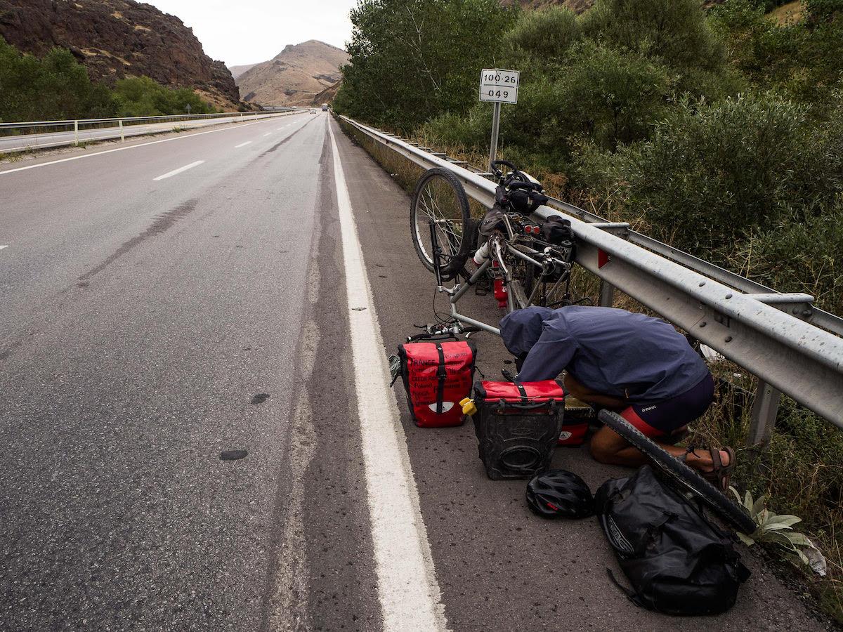 Equipement pour voyage à vélo