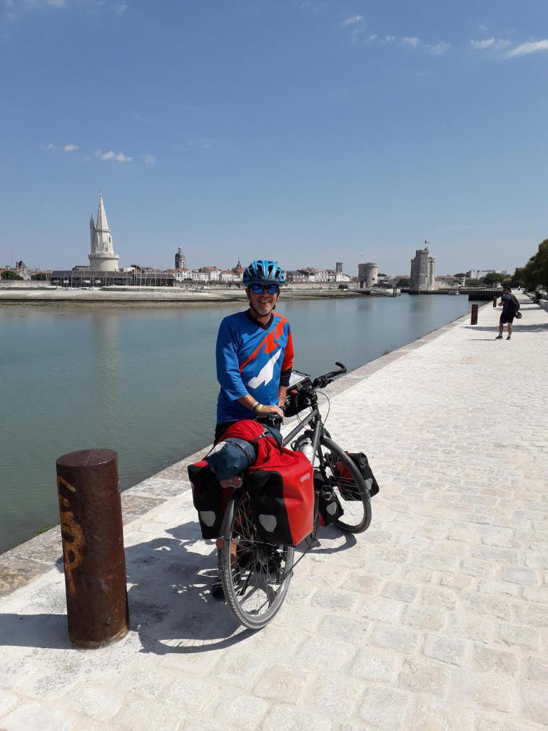 Arrivée à la Rochelle vélo