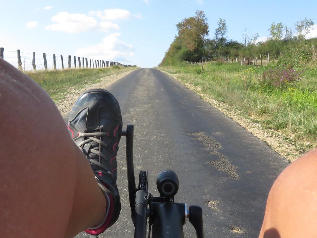 Montée dans les Vosges vélo