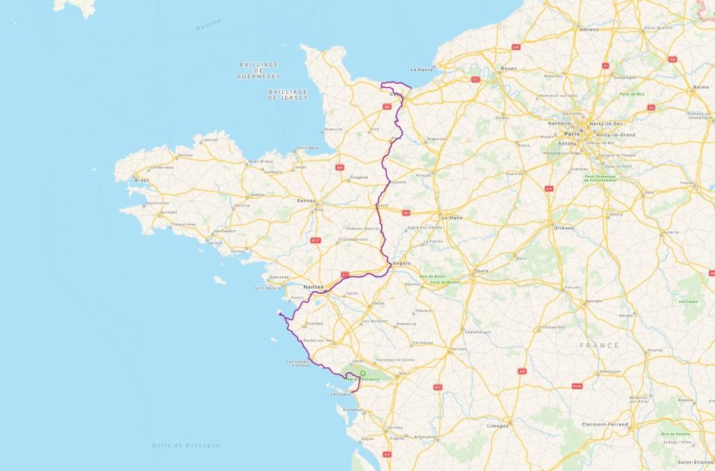 Parcours vélo Manche à Atlantique