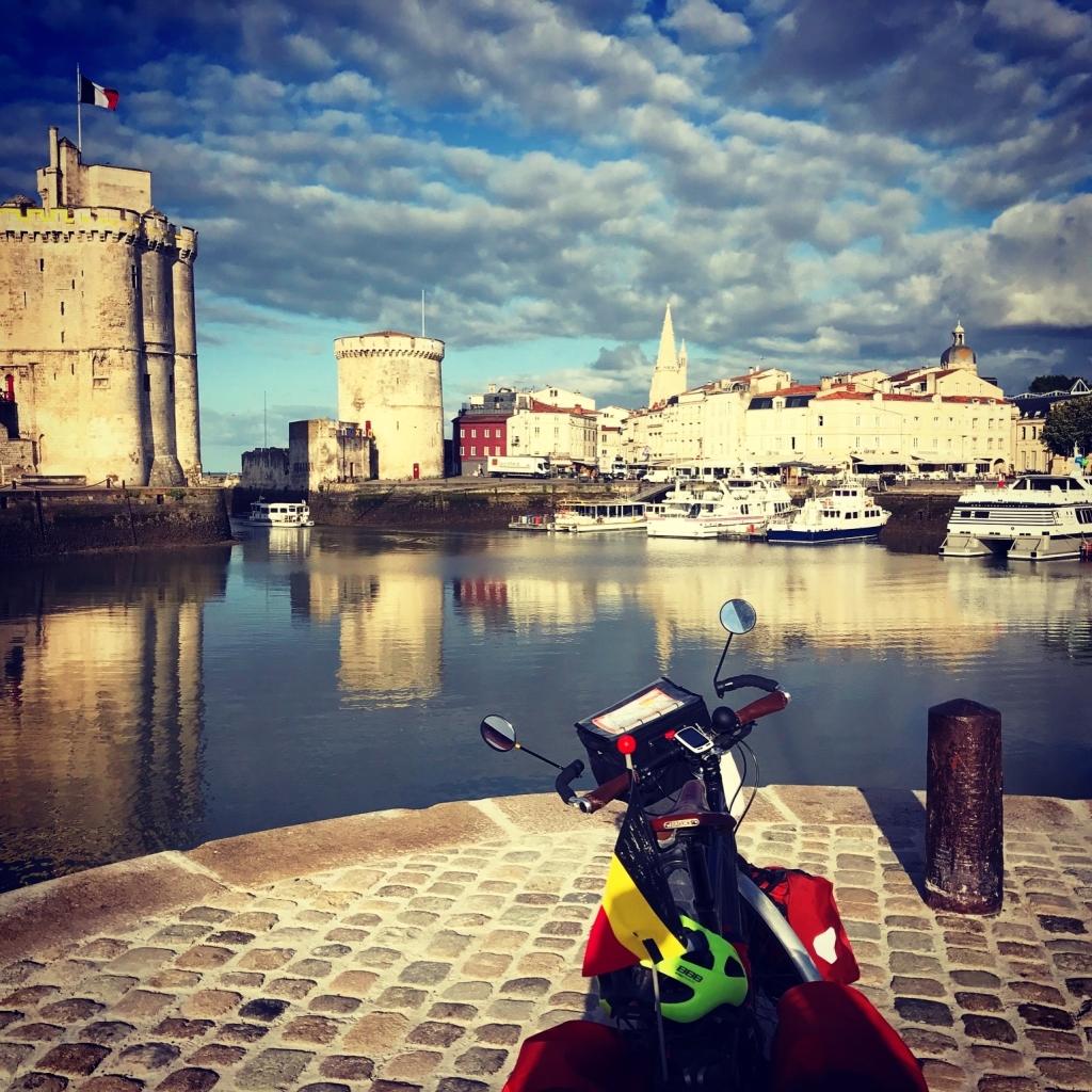arrivee à La Rochelle vélo