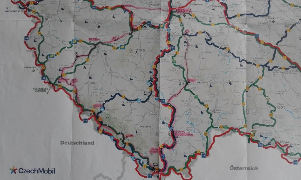 Parcours vélo République Tchèque