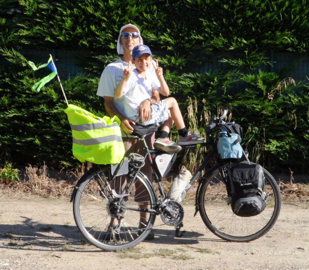 Trip à vélo avec un enfant