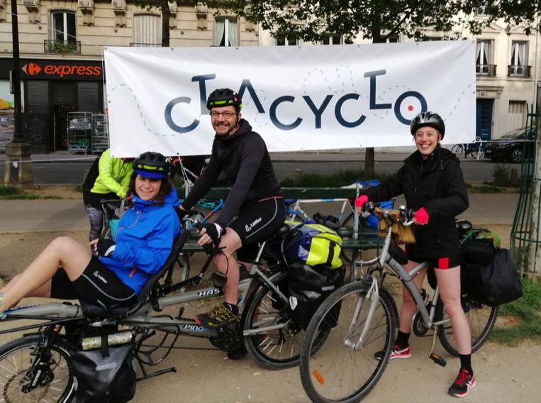 Départ de la Clacyclo Paris