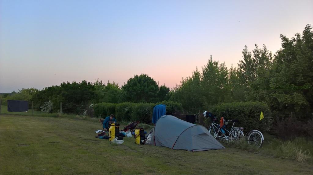 Camping voyage vélo Loire