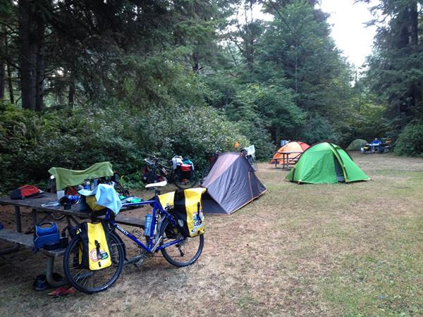 Camping vélo Pacific Coast