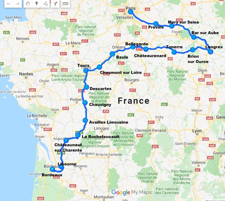 Itinéraire Paris Bordeaux vélo